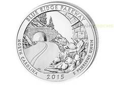 America the Beautiful ATB Blue Ridge Parkway North Carolina USA 5 oz Silber 2015