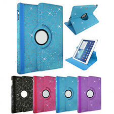 For SAMSUNG TAB TABLETS - PU LEATHER 360 SWIVEL CASE COVER STAND & SLEEP / WAKE