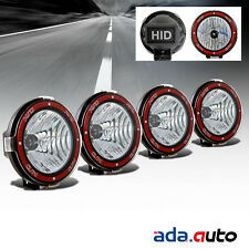 "4X 7"" HID Blk Off Road Lights Flood Rally Fog Driving Lamps For Suv/Baja/Pickup"