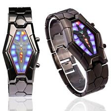 Cool Lava Style Iron Samurai Black Bracelet LED Watch Japanese Inspired Watch