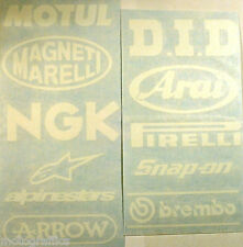 Motorbike Swingarm Stickers GLOSS or Matt White Suzuki Kawasaki Honda Yamaha KTM