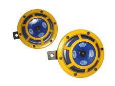 Hella 12V Sharptone Dual Car Horn Set Yellow Panther For Benz, Bmw, Evo, Suv