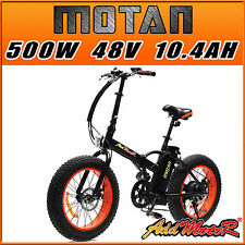 Addmotor MOTAN Electric Bicycle Fat Tire Foldable Bike For Beach Snow 500W M-150