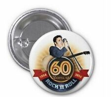 BADGE Button Pin Elvis Presley The King