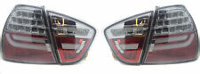 Back Rear Tail Lights For BMW E90 Saloon 05-08 Black Smoked LED Lightbar