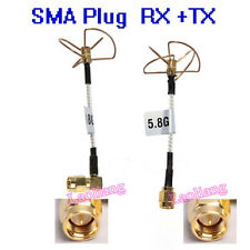 1 Pair FPV 5.8Ghz Clover Leaf Antenna High Gain Aerial Set w/SMA Plug Male F DJI