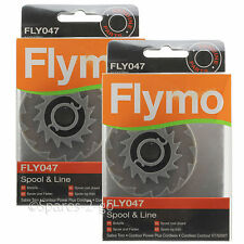 2 FLYMO Strimmer Spool & Line Garden Trimmer Contour Power Plus Cordless FLY047