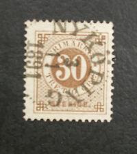 SWEDEN 1877 30 ORE NYKOPING SON Cancel 1891 BUGLE  DEFINITIVE STAMP SVERIGE VG