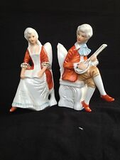 antique porcelain, German Couple on chair. Marked.