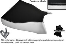 WHITE & BLACK CUSTOM FITS KAWASAKI ZXR 750  93-95 (L M) FRONT SEAT COVER ONLY
