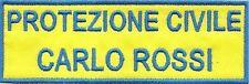 Patch Nome Toppa Ricamo Protezione Civile Softair Militare Volontari Sport Anpas