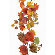 Foglie d'autunno seta artificiale display decorazione ghirlanda 1.82m