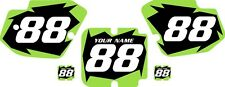 1988 Kawasaki KX500 Custom Pre-Printed Black Backgrounds with Green Shock