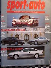 SPORT AUTO 1990 10 ANS AUDI QUATTRO / OPEL CALIBRA / 24 H DU MANS /CITROEN XM V6