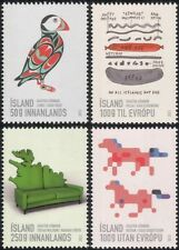 Iceland 2013 Graphic Arts/Design/Puffin/Ponies/Food/Furniture 4v set (is1007)