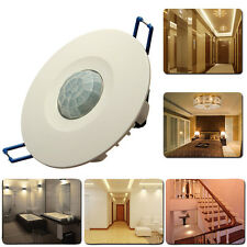 360° Ceiling PIR Infrared Wall Recessed Motion Sensor Detector Auto Light Switch