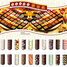 Colorful DIY Chocolate Transfer Sheet Food Decoration Paper (50 pcs / set)