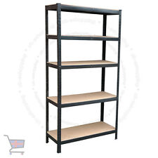 Heavy Duty Storage Racking 5 Tier Black Shelving Boltless for Garage Shop UKES