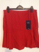 """Nuevas damas mini faldas Forrado De Colección M&S Talla 12 longitud 19"""""""