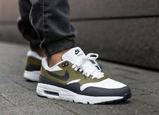 Nike AIR MAX 1 Ultra Bianco Oliva Flak Essential Taglia 7.5 uk/42 EUR [819476-107]