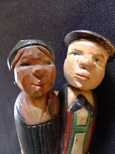 Kissing Couple Mechanical Hand Carved Wood Wine Cork Bottle Stopper ANRI Style