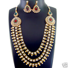 Indian Bridal Jewelry Bollywood New Necklace Ethnic Traditional Set FASHION EDH