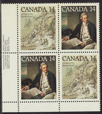 CANADA #764a 14¢ Captain Cook, Nootka Sound LL Inscription Block MNH
