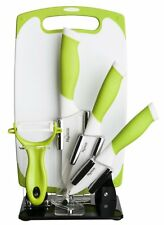 New England Cutlery 6 Piece Premium Ceramic Knife Set Color: Green