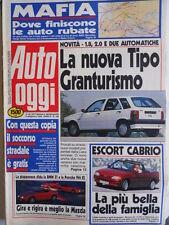 Auto OGGI n°196 1990 Ford Escort Cabrio - Fiat Tipo gran Turismo  [Q200]