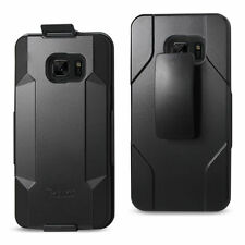 For Samsung Galaxy S7 EDGE Reiko Heavy Duty Drop Proof  Holster Combo Clip Case