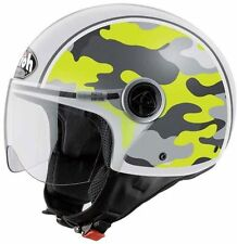 CASCO MOTO DEMI JET AIROH COMPACT MILITARY YELLOW GIALLO TG L