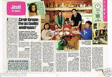 """Coupure de presse Clipping 1987 (2 pages) Carole Varenne """"Tournez Manège"""""""