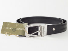 New Luciano Barbera Black Leather Belt Size 120 US 44