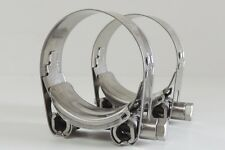 NEW Qty 2 Hose Clamp Stainless Steel 73 -79 mm ID T Bolt SS 3""