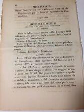 Regio Decreto 29/04/1866 Riforma dell'art. 22 Reg. Cassa  Risp. Fossombrone -771