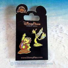 Disney Cogsworth Lumiere Beauty and the Beast Princess Two Pin Set (NN:115329)