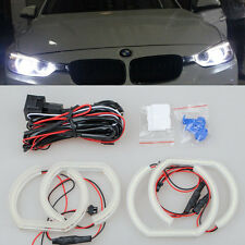4x WHITE Led SMD 6000k ANGEL EYE RINGS Halo light For BMW E90 sedan 2006-2010