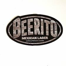 Oskar Blues Beerito Sticker Mexican Lager Craft Beer Brewery Decal Advertising