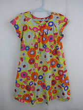 Girls Hanna Andersson 120 6 6X 7 Green Pink Floral Flowers Play Dress Summer S/S