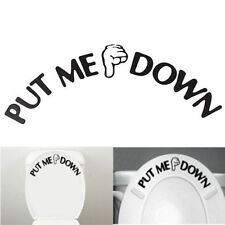 Funny Gesture Hand Decal Bathroom Toilet Seat Wall Sticker Sign for PUT ME DOWN
