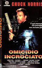 Omicidio incrociato (1991) VHS 1a Ed. Cannon  Chuck  Norris rara