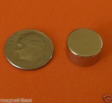 10 Strong 1/2x1/4 Inch Grade N42 Rare Earth Neodymium Disc Magnet