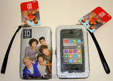 NEW One Direction 1D Smart Phone Holder Wristlet Glitter Case W/Strap Licensed