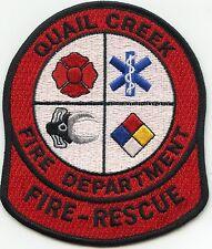 QUAIL CREEK ARKANSAS AR TEXAS TX Fire Rescue FIRE PATCH