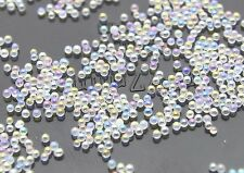 12g Glass Micro Beads No Hole 0.8mm -1mm Nail Art Caviar Marbles Microbeads B284