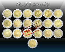 "19 x 2 EURO coins 2015 - ALL EU COUNTRIES ""The 30th anni. of the EU FLAG "" UNC"