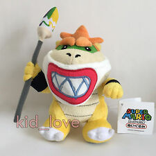 New Super Mario Bros. Plush Bowser Jr. with Magic Paintbrush Soft Toy Doll 7""