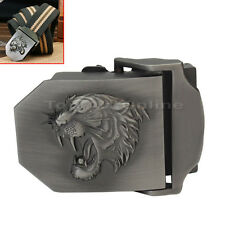 1pc Military Army Cool Style Mens Boys Tiger Head Carved Metal Belt Buckle Gift