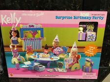 PlaySet Barbie-Kelly Surprise Birthday Party/Teddy Bear Present/Cake/Last One
