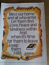 BLESS OUR HOUSE SAMPLER IS A CROSS STITCH CHART FOR ANCHOR AND ARIADNA THREADS